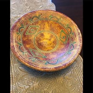 Aztec inspired bowl & stand
